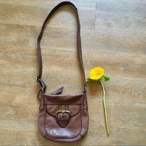 Fossil genuine leather cross body bag purse